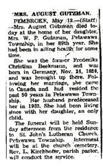 Mrs. August Gutzman.