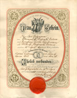 Marriage Certificate Carl Gutzmann and Emilie (Emilia) Lindemann