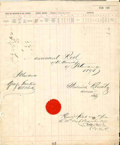 1898 Assessment Roll for the Township of Petawawa