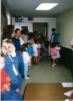 Lined up for Fumblekin 1989