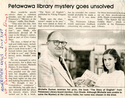 Petawawa library mystery goes unsolved