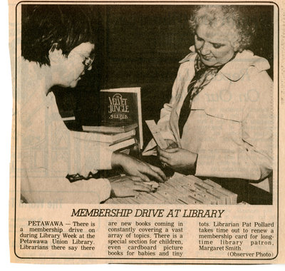 Membership drive at Library