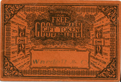 Orange Good Will Gift Token for Wardell & Company