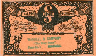 Light Orange Good Will Gift Token for Wardell & Company