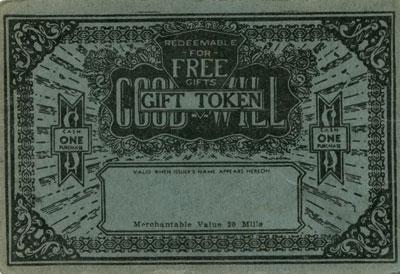Blank Good Will Gift Token