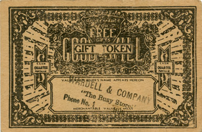 Yellow Good Will Gift Token for Wardell & Company