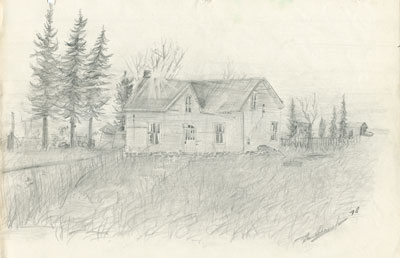 Pencil Sketch of a House, 1978