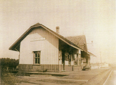 Empty Emsdale Railway Station, circa 1910