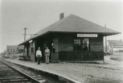 Sprucedale Railroad Station, circa 1915