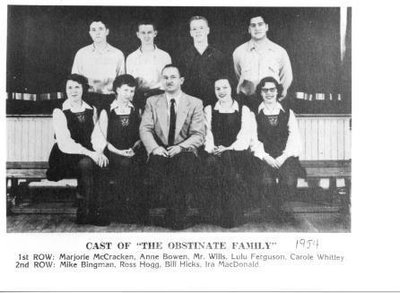 """Cast of """"The Obstinate Family"""""""
