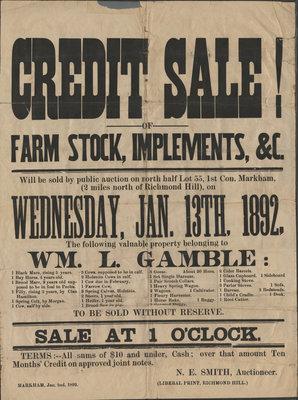 Farm Stock Sale poster