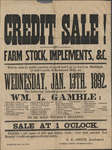 Farm Stock Sale poster