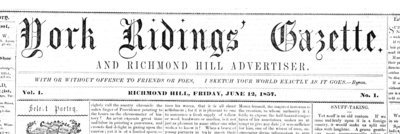 York Ridings' Gazette