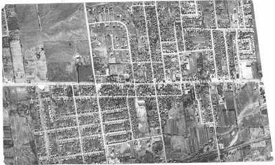 Aerial photograph of Richmond Hill, Yonge Street corridor