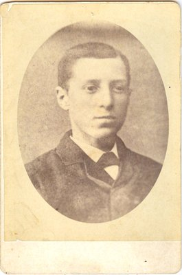 Photograph of an unidentified youth