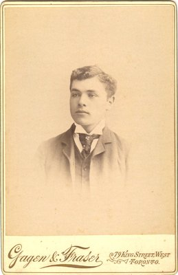 Photograph of a self-satisfied young man