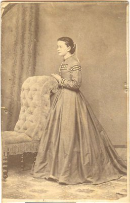 Cabinet photograph of a young woman