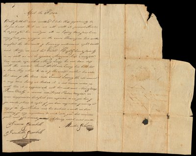 Letter addressed to James Gambell