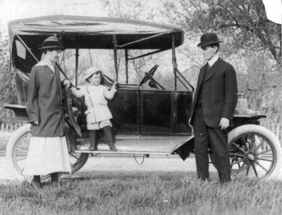 Dr. Rolph Langstaff with the Ford Model T