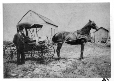 William H. Graham with his horse & buggy