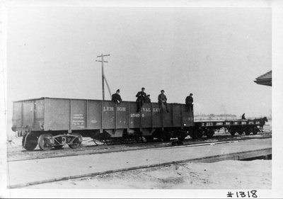 Freight car of commercial coal