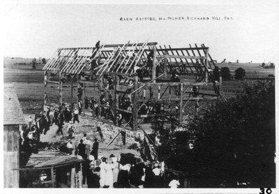 William Palmer barn-raising