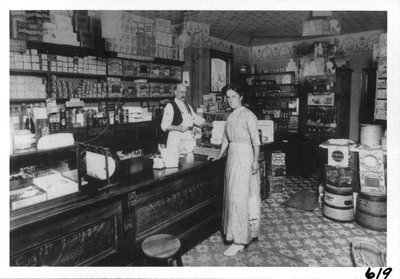 Interior of Brown's store