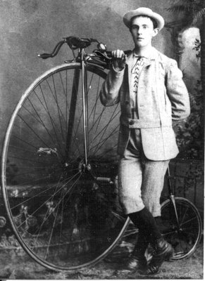 Rolph Langstaff with his first bicycle