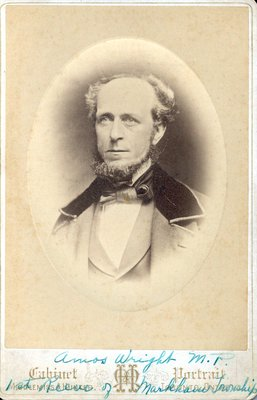 Cabinet photograph of Amos Wright