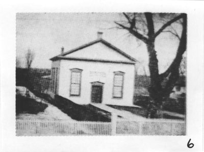 The first building of Richmond Hill Methodist Church.