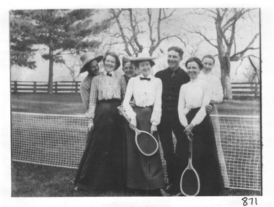 At the Newbery Tennis Court