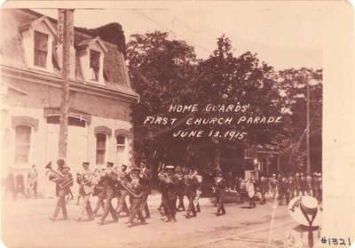 Home Guards' First Church Parade