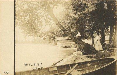 Along the shore of Lake Wilcox