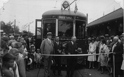 Opening of North Yonge Railways