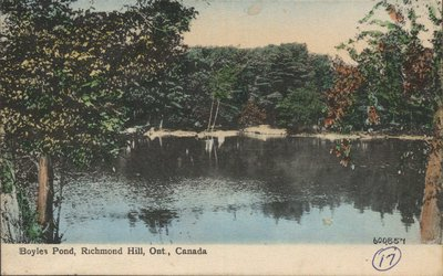 Boyles Pond in Richmond Hill