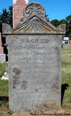 Robert Marsh's gravestone