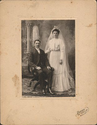 Wedding photo of Donald Watson and Caroline Stevenson