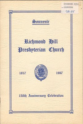 Richmond Hill Presbyterian Church  Souvenir Book