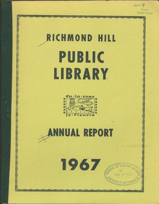 Richmond Hill Public Library Annual Report