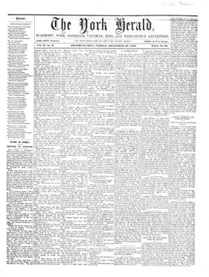 York Herald, 16 Dec 1859