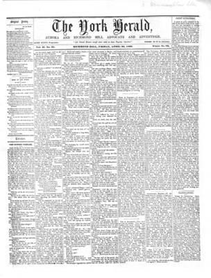 York Herald, 20 Apr 1860