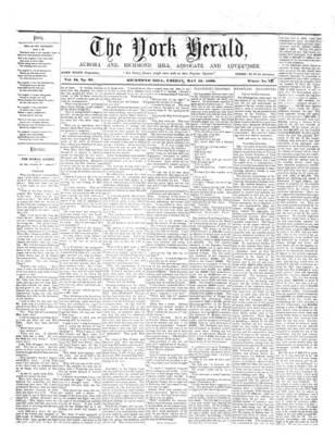 York Herald, 18 May 1860