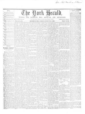 York Herald, 17 Aug 1860
