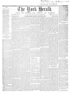 York Herald, 31 Aug 1860