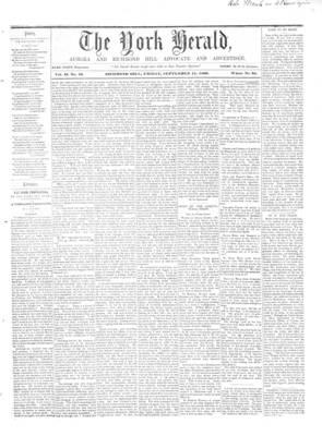 York Herald, 14 Sep 1860