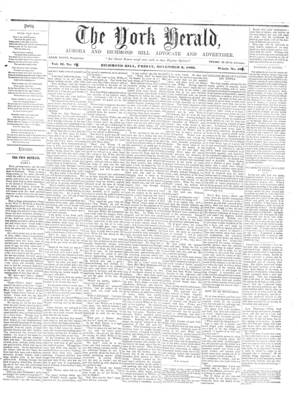York Herald, 3 Nov 1860
