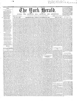 York Herald, 23 Nov 1860