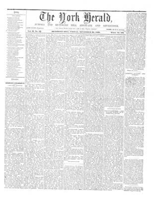 York Herald, 30 Nov 1860