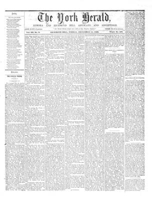 York Herald, 14 Dec 1860