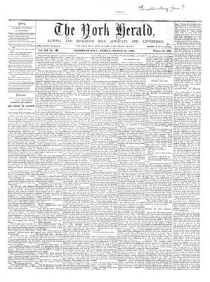 York Herald, 29 Mar 1861